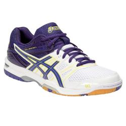 Asics Mega Shoe Sale, Squash Shoes - Asics Gel Rocket 7 Womens Squash Shoes White Purple