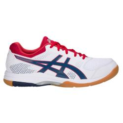 Squash Shoes - Asics Gel Rocket 8 Mens Squash Shoes White/Deep Ocean