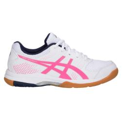 Squash Shoes - Asics Gel Rocket 8 Womens Squash Shoes White/Hot Pink