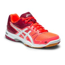 Squash Shoes - Asics Gel Rocket 7 Womens Squash Shoes Flash Coral