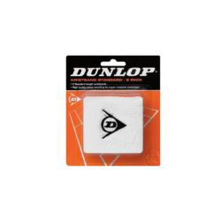 Squash Accessories - Dunlop Wristband Twin Pack White