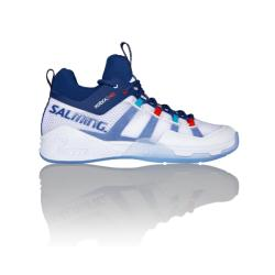 Squash Shoes - Salming Kobra Mid Mens Squash Shoe White Navy