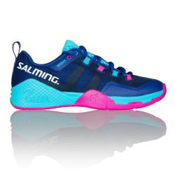 Squash Shoes - Salming Kobra 2 Blue Pink Womens Squash Shoes