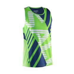 Massive Clothing Clearance - Salming Race Singlet Lizard Green