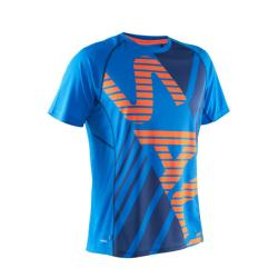 Clothing - Salming Short Sleeve Tee Blue/Orange