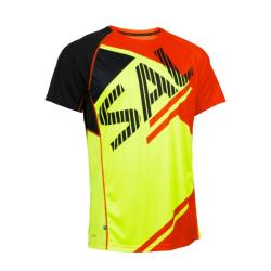 Massive Clothing Clearance - Salming Short Sleeve Tee Bold Print Yellow Orange