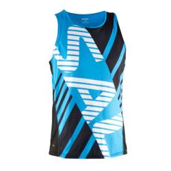 Massive Clothing Clearance - Salming Team Race Singlet Cyan/Black