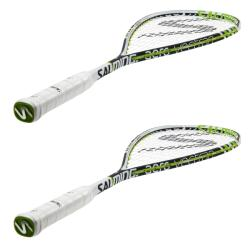 Squash Racquets - Salming Cannone Pro Squash Racquet Black Green 2 Pack