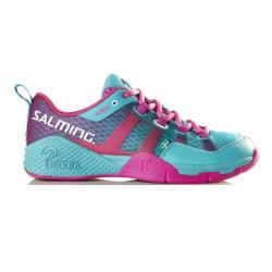 Squash Shoes - Salming Kobra Turquoise Pink Womens Squash Shoes