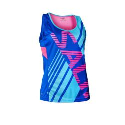 Massive Clothing Clearance - Salming Race Singlet Blue Pink Women
