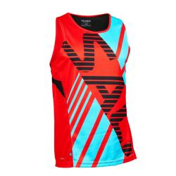 Massive Clothing Clearance - Salming Race Singlet Orange Blue Men