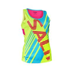 Clothing - Salming Race Singlet Yellow Blue Women