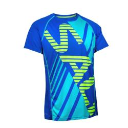 Clothing - Salming Short Sleeve Bold Tee Blue Yellow Men