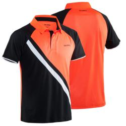 Clothing - Salming Performance Polo Mens Black/Magma