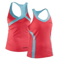 Massive Clothing Clearance - Salming Strike Tank Diva Pink/Turquoise
