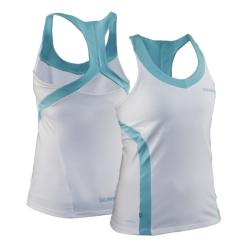 Massive Clothing Clearance - Salming Strike Tank White/Turquoise