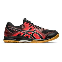 Squash Shoes - Asics Gel Rocket 9 Men Black Red 2020 Launch