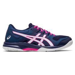 Squash Shoes - Asics Gel Rocket 9 Women Blue Pink 2020 NEW