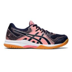 Squash Shoes - Asics Gel Rocket 9 Women Guava Midnight 2020 Launch
