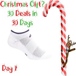 30 Deals in 30 Days, Clothing - Asics Pace Low Sock White Navy