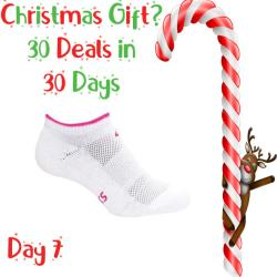 30 Deals in 30 Days, Clothing - Asics Pace Low Sock White Pink