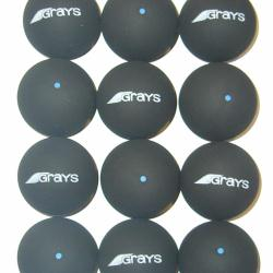 Squash Balls - Grays Blue Dot One Dozen Balls
