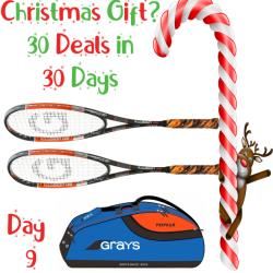 30 Deals in 30 Days, Squash Bags, Squash Racquets - Grays Illusion 130 Squash Racquet Two Pack and free bag blue
