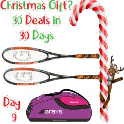 30 Deals in 30 Days, Squash Bags, Squash Racquets - Grays Illusion 130 Squash Racquet Two Pack and free bag purple