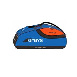 Squash Bags - Grays Ninja 9 Racquet Pro Carrier Bag Blue Orange