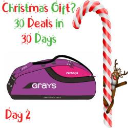 30 Deals in 30 Days, Squash Bags - Grays Ninja 9 Racquet Pro Carrier Bag Purple Pink