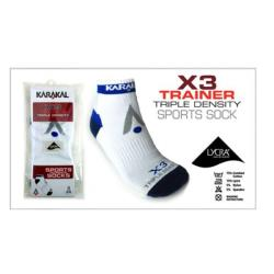 Clothing - Karakal X3 Socks White 36-39 / UK3-6