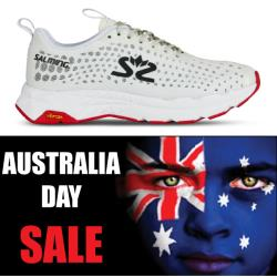Salming Running - Australia Day Greyhound Women White Running Shoes