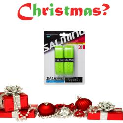 Christmas Specials, Squash Accessories - Christmas Salming X3M Sticky Grip Two Pack Green