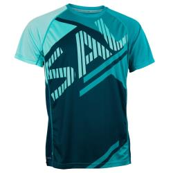 Clothing - Salming Bold Print Tee Men Deep Teal/Lapis