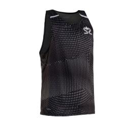 Clothing - Salming Breeze Tank Men Sharp Black All Over Print