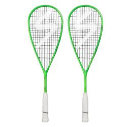 Squash Racquets - Salming Cannone Squash Racquet Two Pack Green Navy 2018