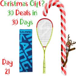 30 Deals in 30 Days, Squash Racquets - Salming Grit Powerlite Fluro Yellow/Flame Red Racquet and Gym Towel