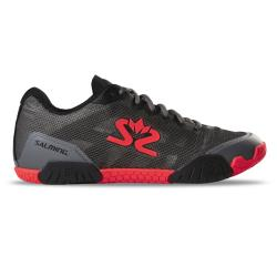 Squash Shoes - Salming Hawk Shoe Men GunMetal/Red Launch