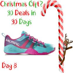 30 Deals in 30 Days, Squash Shoes - Salming Kobra Turquoise Pink Womens Shoes Clearance