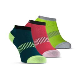 Clothing - Salming Performance Socks 3 Pack Teal Yellow Red