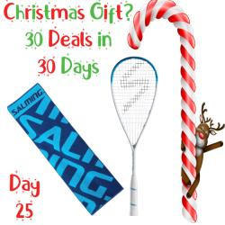 30 Deals in 30 Days, Squash Racquets - Salming Powerray White Racquet 2019 with FREE Towel