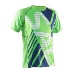 Clothing - Salming Short Sleeve Bold Tee Green Blue Men