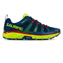 Salming Running - Salming Trail 5 Mens Running Shoes Poseidon Blue/Safety Yellow