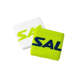 Squash Accessories - Salming Wristband Short Twin Pack Lime Punch White