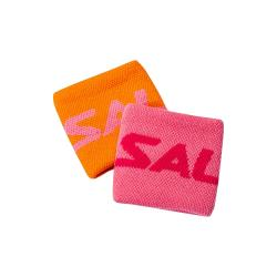 Squash Accessories - Salming Wristband Short Twin Pack Orange Pink