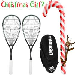 Christmas Specials, Squash Racquets - Christmas Deal UNSQUASHABLE Response 120 Squash Racquet 2 Pack with bag