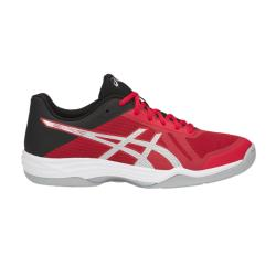 Squash Shoes - Asics Gel Tactic Mens Squash Shoes Red/Silver LAUNCH
