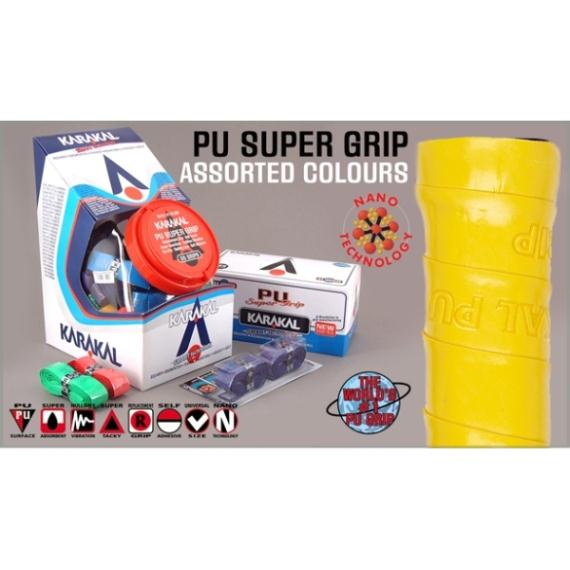 Squash Accessories - Karakal Assorted PU Grip Box of 24