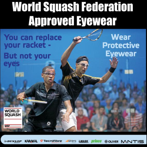 Squash Accessories - Grays GT Eyewear Orange WSF Approved
