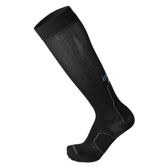 Clothing - Mico Oxijet Long Compression Sock Black - Light